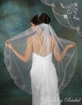 1-Tier Beauty Embroidered Scalloped Veil