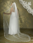 1-Tier-Cathedral Length Mantilla Style Veil