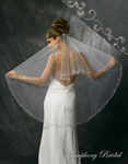 1-Tier Embroidery Edge Veil