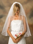 1-Tier Pearl Edge Veil