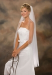 1-Tier Pearl or plain Edge wedding veil - SALE!!