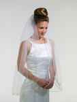 1-Tier Silver Corder beaded veil