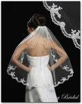 1-Tier Swirl Lace Edge Bridal Veil - SALE!!!
