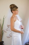 2-Tier Elegant Taupe Ribbon Edge
