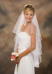2-Tier Pearl Edge Bridal Veil