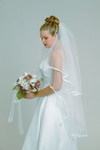 2-Tier Ribbon Edge Veil