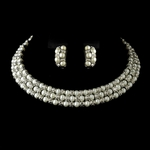 Abbie - Antique Silver Ivory Pearl Coil Necklace Set - Special