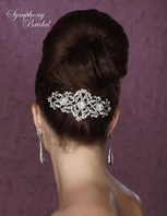 Abdera - New gorgeous swarovski crystal  back hair comb - SALE