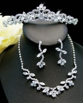 Ada -- Elegant Crystal Rhinestone Tiara and Necklace Set