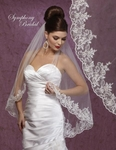 Adalicia  - New Romantic beaded lace wedding veil - SPECIAL