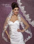 Adalina - EXQUISITE mantilla style beaded edge wedding veil - SALE