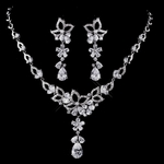 Adanna - SPECTACULAR CZ wedding necklace set - SALE