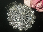 Adelicia - BEAUTIFUL vintage Swarovski crystal hair comb - SPECIAL a few left