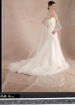 Adorare - ITALIAN COLLECTION - High end satin crystal edge cathedral veil