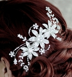 Alana -Royal Collection - Swarovski crystal wedding hair comb - SPECIAL one left