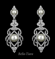 Alara - Royal Collection - CZ crystal wedding bridal earrings - SALE