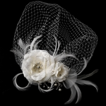 Alexia - New romantic vintage wedding bridal flower with cage veil - SPECIAL one left
