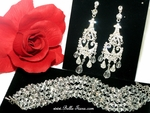 Alia - Royal Beauty - Swarovski crystal earring and bracelet set - Amazing Price