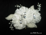Alie - Gorgeous triple ivory floral crystal flower comb - SPECIAL two left