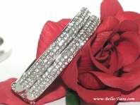 Alina - Elegant double row rhinestone bangle cuff bracelet - SPECIAL