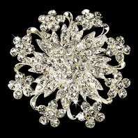 Aliyah - Beautiful floral rhinestone bridal brooch - SALE!!