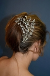Alluring swarovski crystal vine designer wedding headpiece - SALE