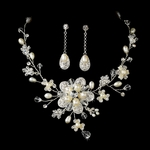 Alora - Dramatic Freshwater Pearl Necklace Set