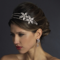 Amalea - Italian Collection - Romantic and bold floral side wedding headband - SALE
