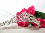 Amanda-Beautiful princess crystal pearl bridal tiara - SALE!!