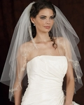 AMAZING 2-tier Beaded embroidered edge - 4108