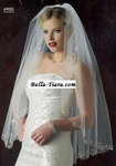 AMAZING!! Beaded angel cut crystal edge bridal veil- Edward Berger 4905 - SALE!!!