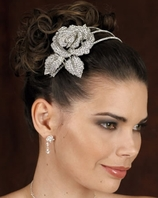 AMAZING!! Edward Berger Couture Crystal rose band - 8109  - SALE!!