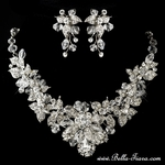 Amelie -  NEW!! Exquisite crystal bridal necklace set - SALE
