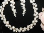 Amore - Boutique Pearl Crystal Bridal Necklace set  - SALE!!!