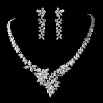 Amore - GORGEOUS CZ bridal necklace set - SPECIAL