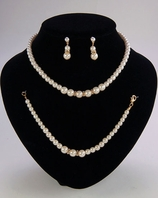Amy-Elegant 3pc Pear Bridal Necklace Set - SALE