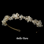 Andrea - Exquisite Crystal Gold Headband