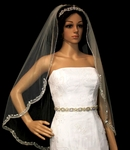 Anessa - Royal Collection New royal crystal beaded edge veil - SPECIAL