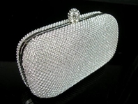 Angel - Swarovski crystal modern evening prom clutch - SPECIAL