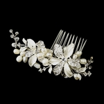 Angela - NEW ivory pearl bridal hair comb - Special!!