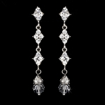 Angie - Elegant crystal drop Bridal Earrings - SALE!! two sets left