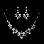 Anita - Beautiful CZ collar necklace set - SPECIAL
