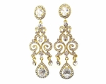Anna -  Elegant Stunning CZ gold Earrings - SALE!!