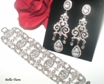 Anna - Mesmerizing CZ earrings and bracelet set - SALE