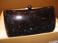 Anna-STUNNING - Swarovski Minaudiere Purse --SALE!!  Clear or Black