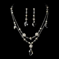 Annabella - Crystal Elegant Drop bridal jewelry set - SALE!!