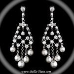 Annabelle- Vintage Cubic Zirconia and Pearl Earrings  - SPECIAL!!