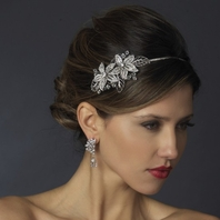 Antique Silver Side Accented Rhinestone Headband - SALE