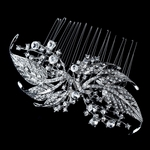 Antique silver Vintage Bridal Hair Comb  - SALE