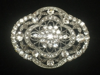 Antonia-VINTAGE-INSPIRED Swarovski crystal bridal brooch - SALE!!!